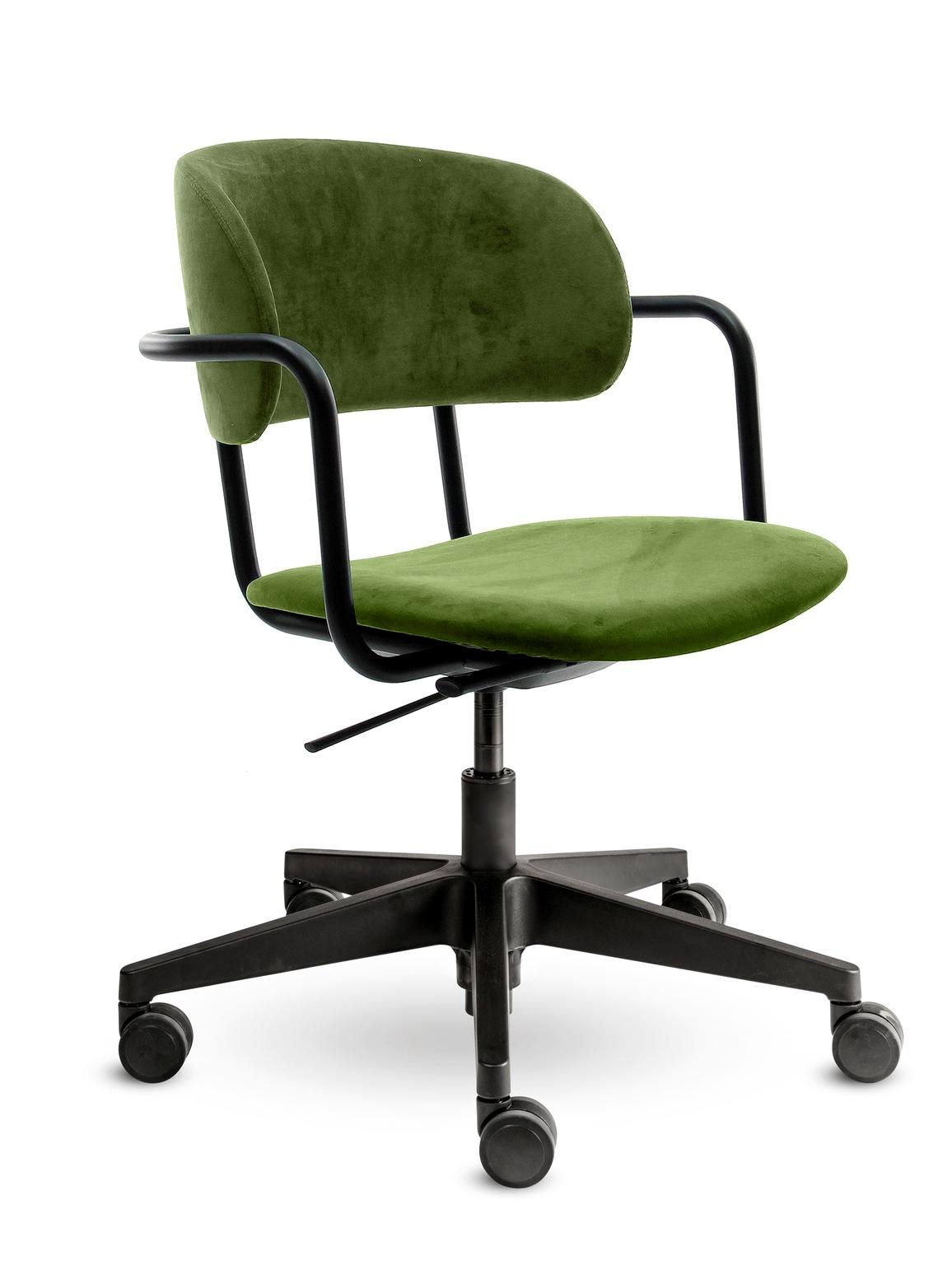 Bureaustoel Homy Velvet Olive