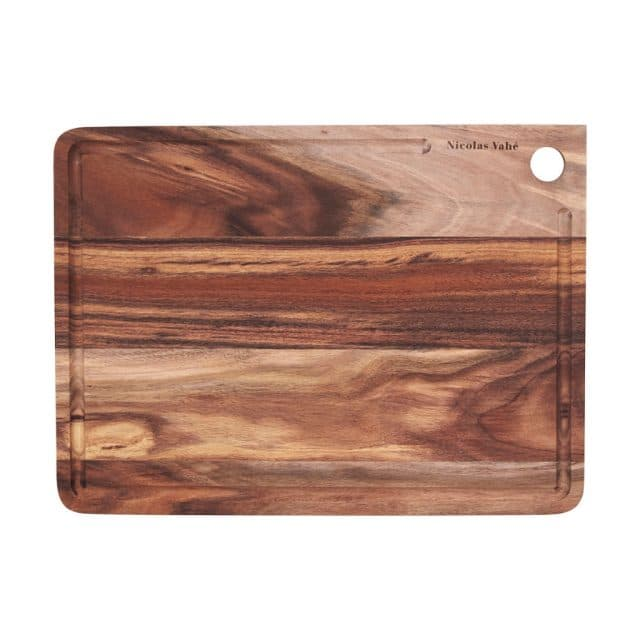 Acacia wood cutting board with eye