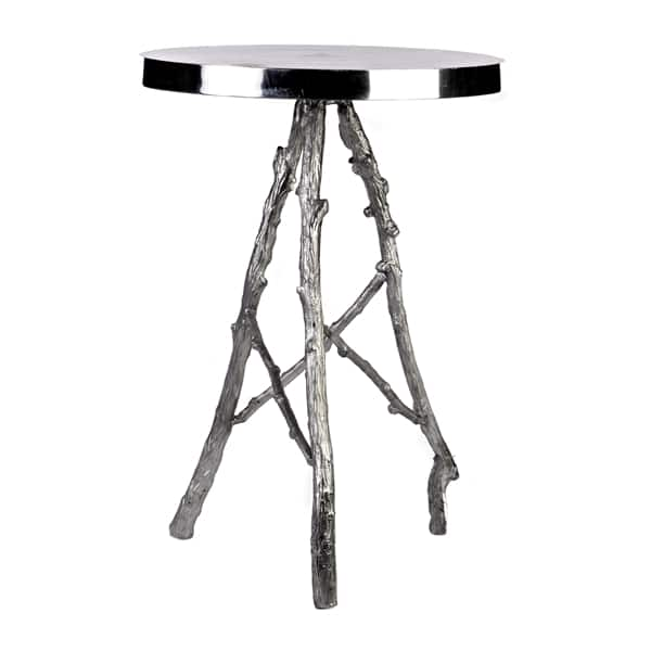 Aluminum side table branches