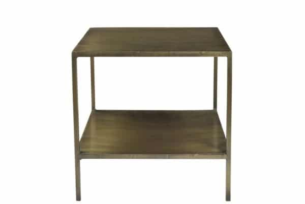 Side table made of iron gold colored