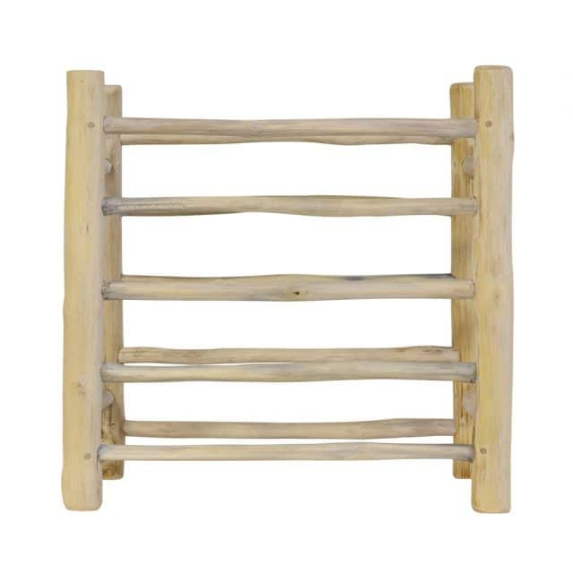 Plate rack made of plain teak wood