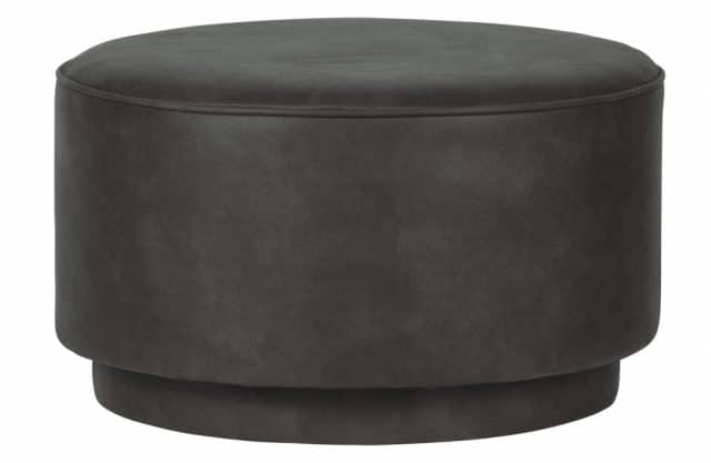 Coffee pouf round anthracite