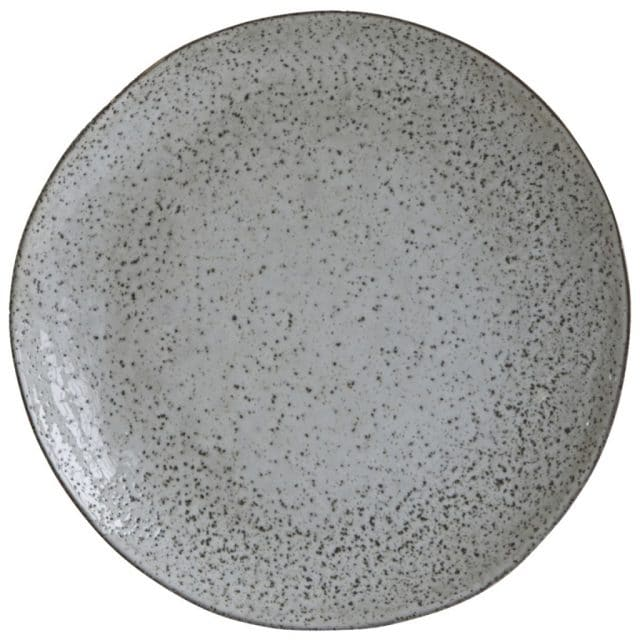 Dinner plate pottery rustic gray