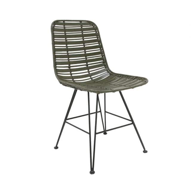 Dining room chair rotan green