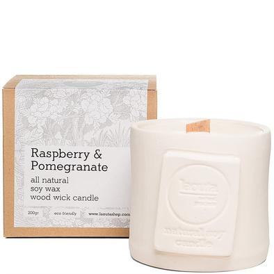 Raspberry pomegranate soy scented candle