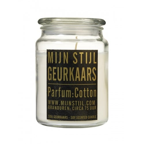 Scented candle cottonxling glass jar
