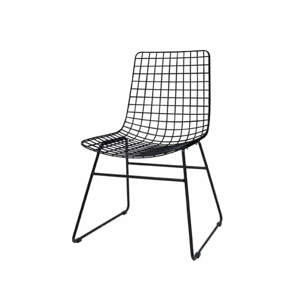 Hkliving wire chair in black