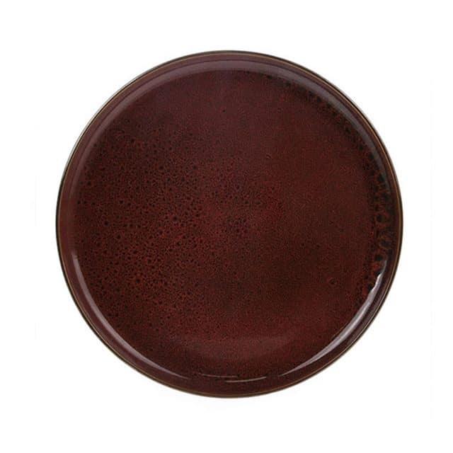 Ceramic dinner plate cerise red