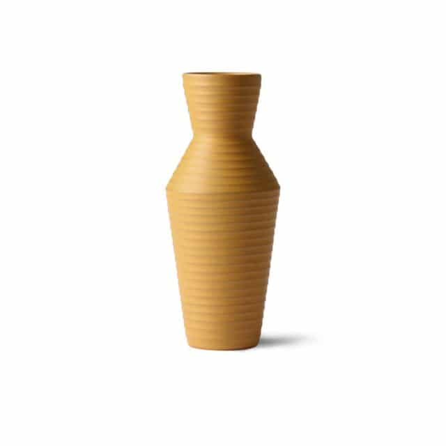 Ceramic vase ocher yellow