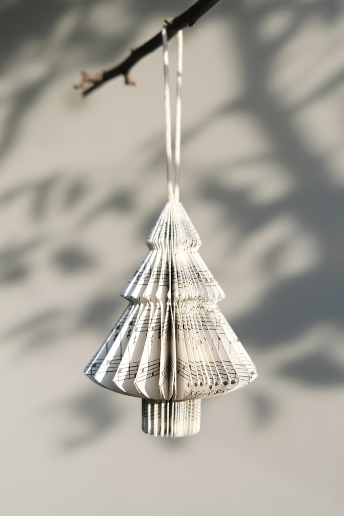 Christmas tree hanger paper