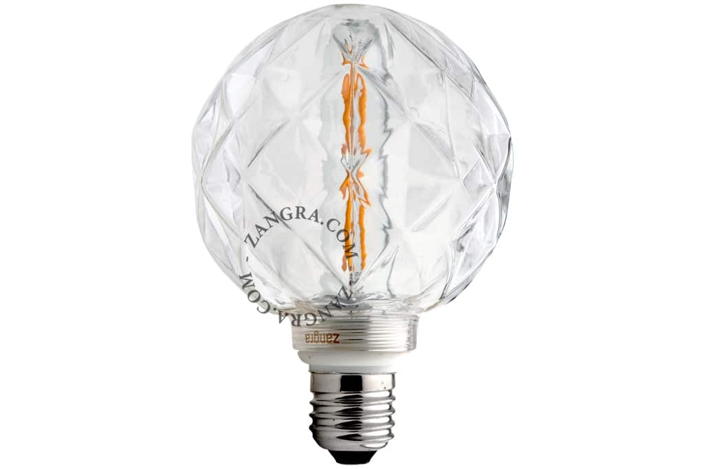 Light bulb concave clear