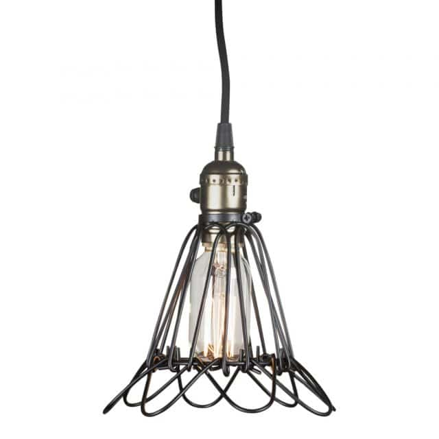 Metal wire lamp