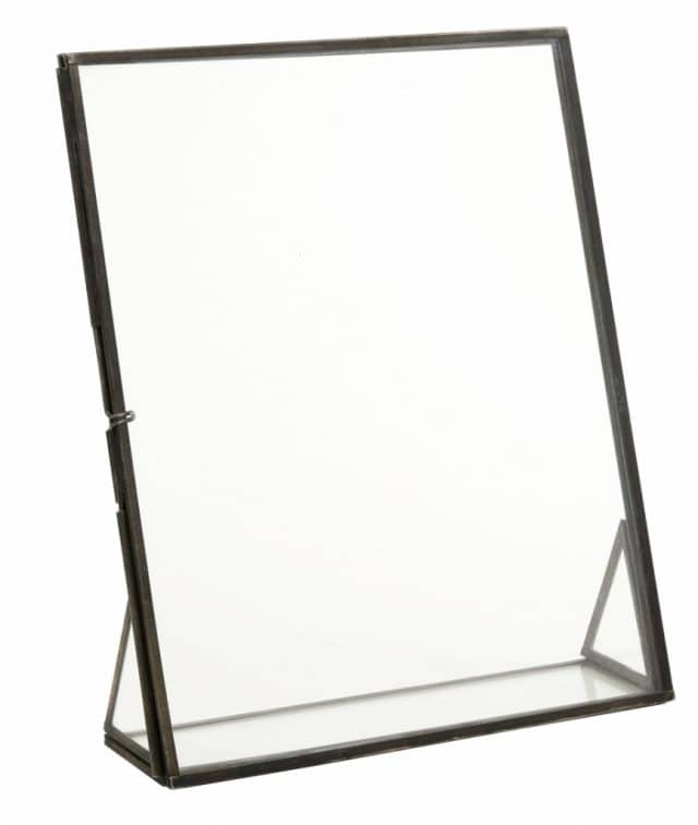 Metal picture frame on pedestal large
