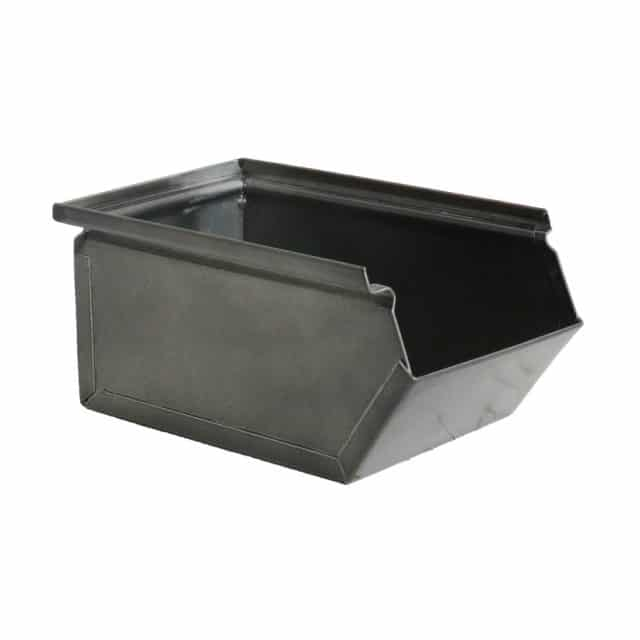 Metal storage tray silver