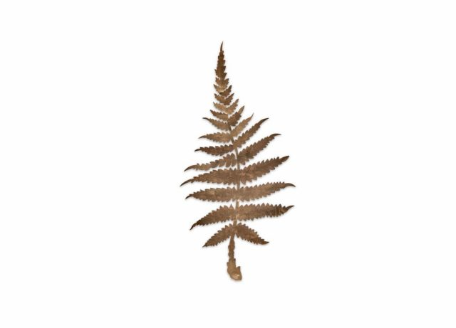 Metallic fern leaf gold
