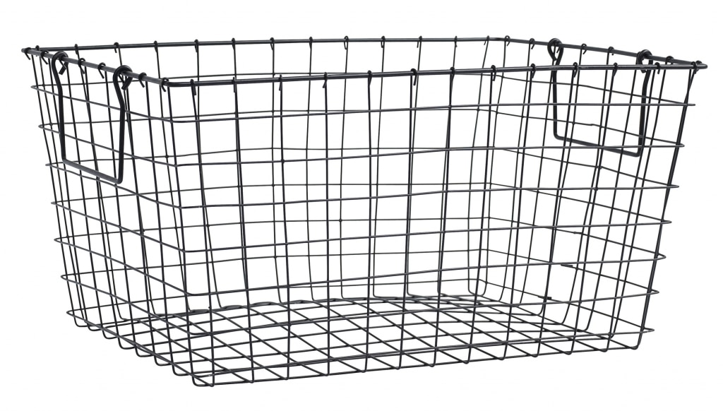 Metal shopping cart basket black
