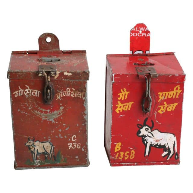 Piggy bank cow from India