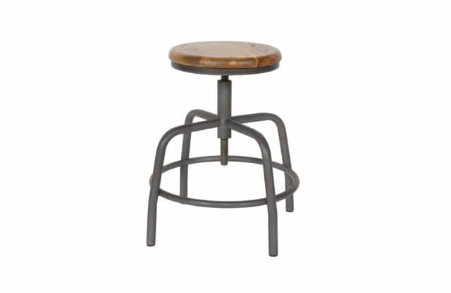 Spider stool metal and wood