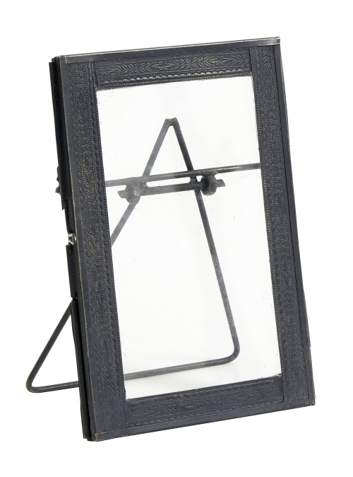 Standing photo frame black
