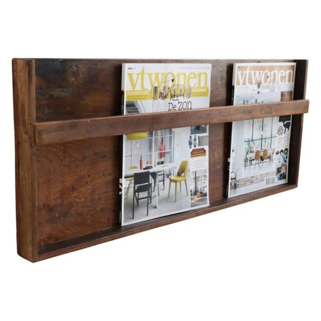 Magazine rack made of teak