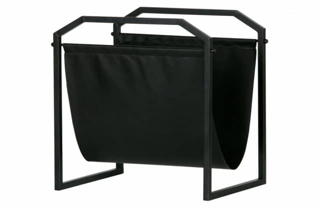 Magazine rack metal black