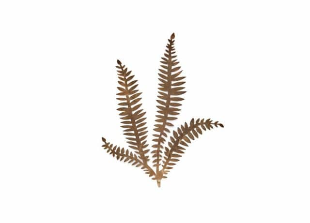 Fern twigs metal gold