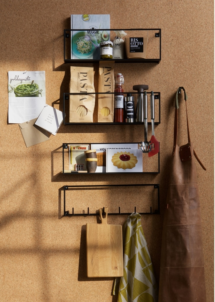 Wall shelf modern black small