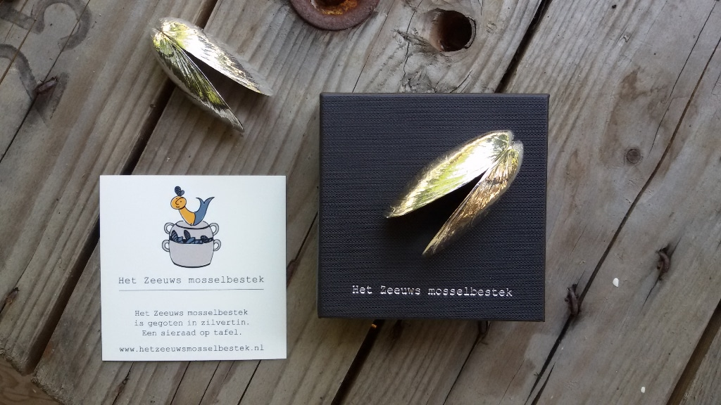 Zeeland mussel cutlery made of silvertin
