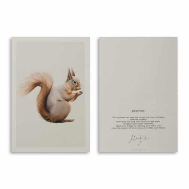 Manifest Squirrel Art Card