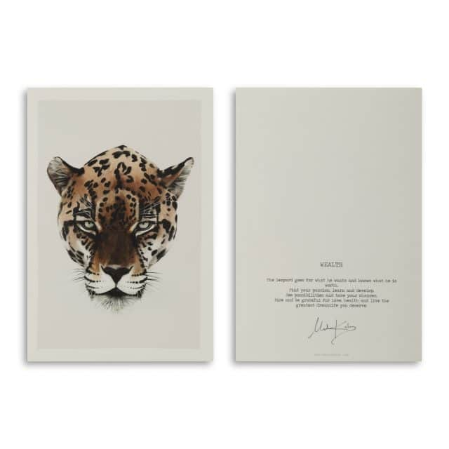 Wealth Leopard Art Card Scaled