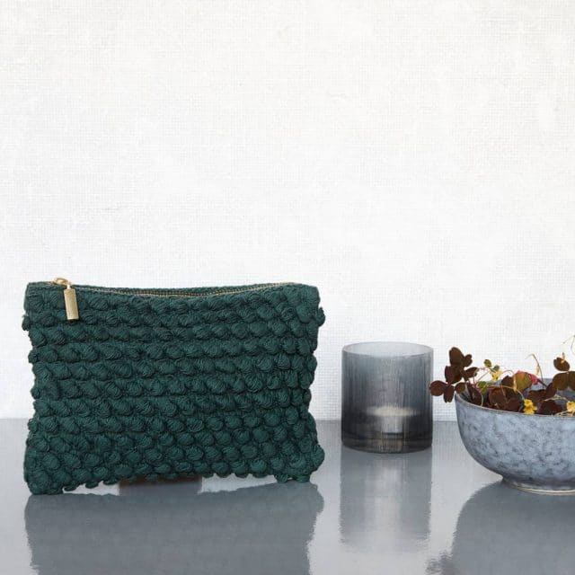 Housedoctor Clutch Tofted Green Cotton 22x15cm 2