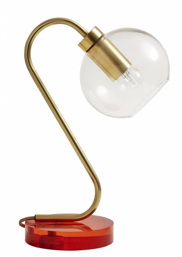 Candy Table Lamp Orange Acrylic Brass