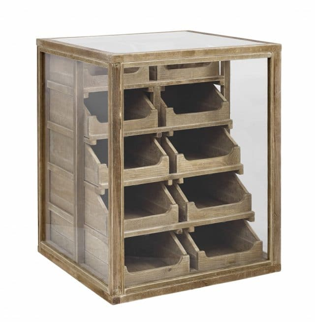 Pharmacists Chest of Drawers Glass And Wood