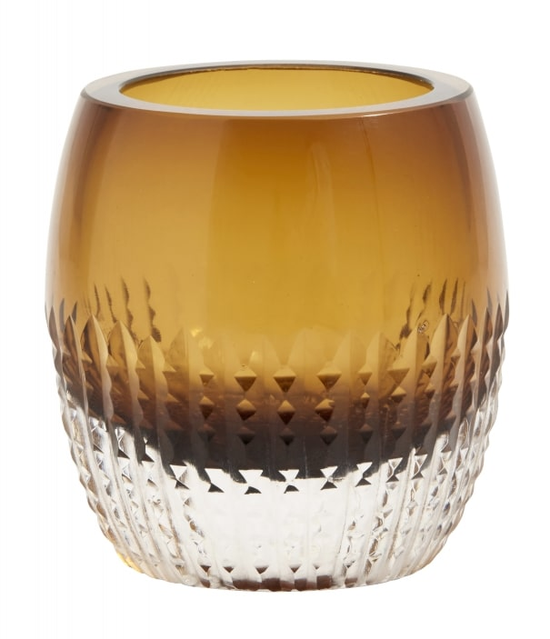 Glass Votive Amber Tealight