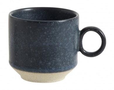Grainy Espresso Cup With Handle Blue
