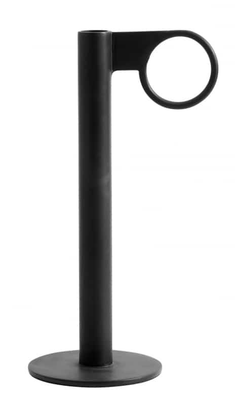 Candlestick Metal Black Circle