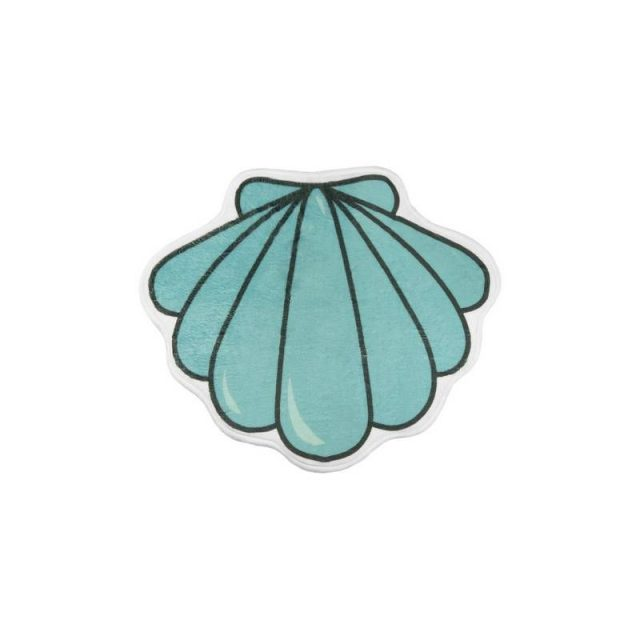 Shell Bath Mat Light Blue