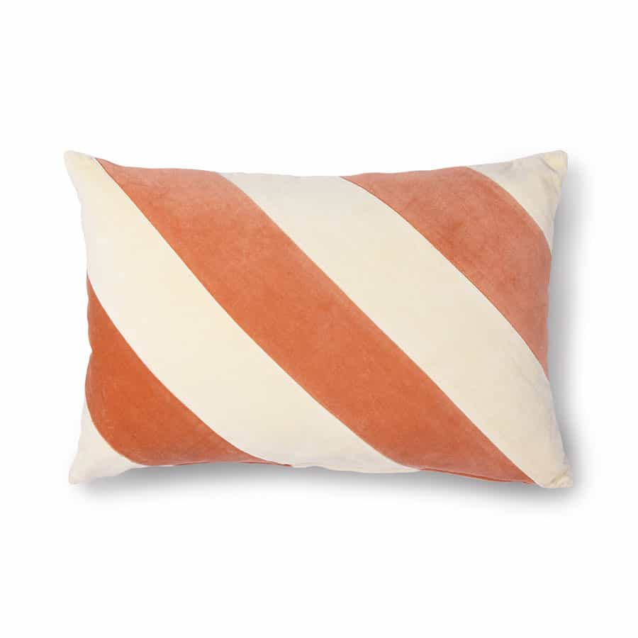 Trp Post Container Data Trp Post Id 11604 Striped Cushion Velvet Peach Cream Trp Post Container