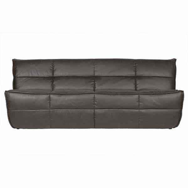 8714713097463 Cluster 3 Seater Vegan Leather Anthracite Lr