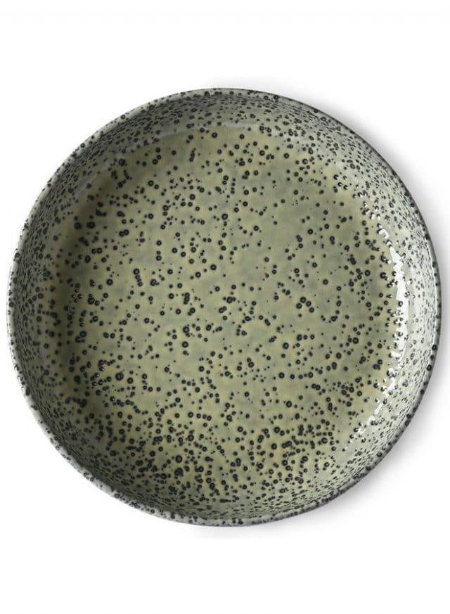 HKLiving Plate Gradient Ceramics Deep Plate Green54