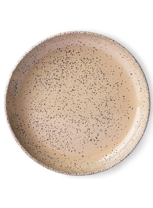 Hkliving Bord Gradient Ceramics Deep Plate Taupe1