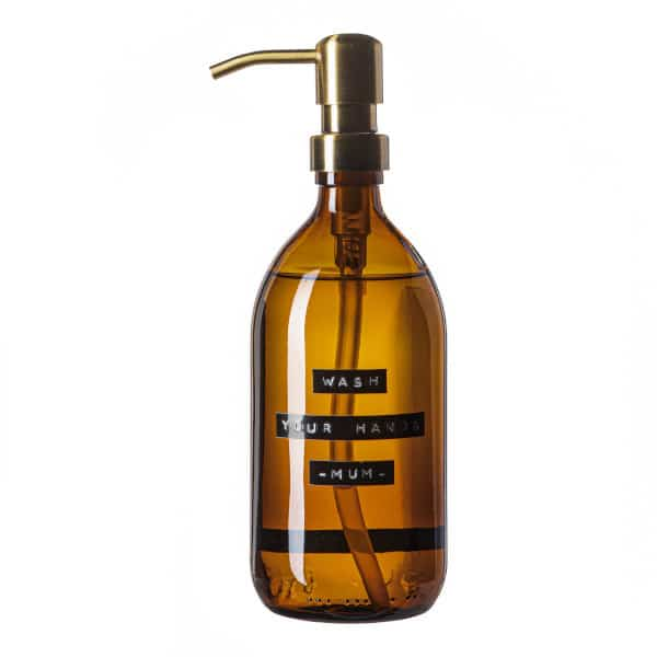 Hand Soap Brown Glass 500ml Wash Your Hands Mum