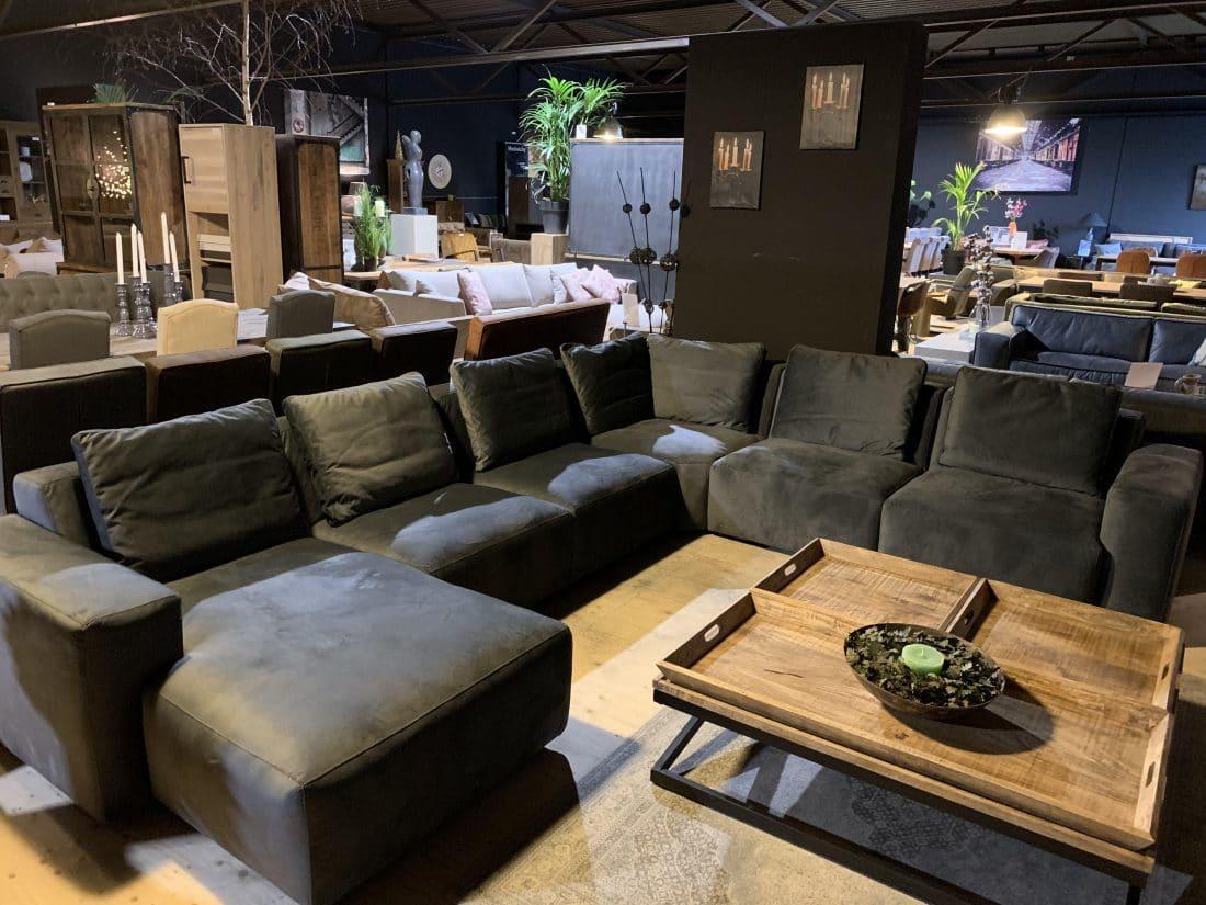 Showmodel Hoekbank Philadelphia Met Lounge Stof