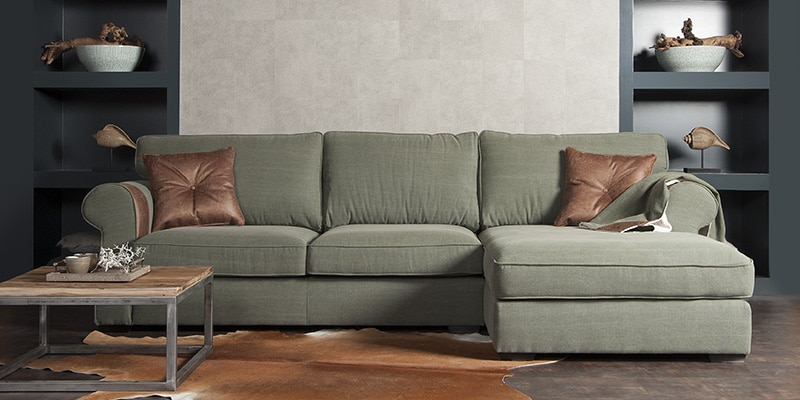Urbansofa Aberdeen Casia Loungebank Met Plaid