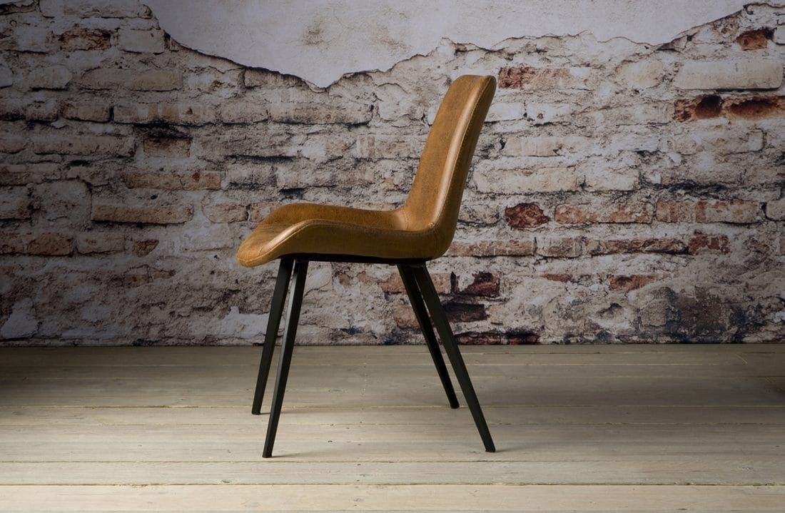 Nc 0094 Almeria Sidechair Fabric Light Brown Z