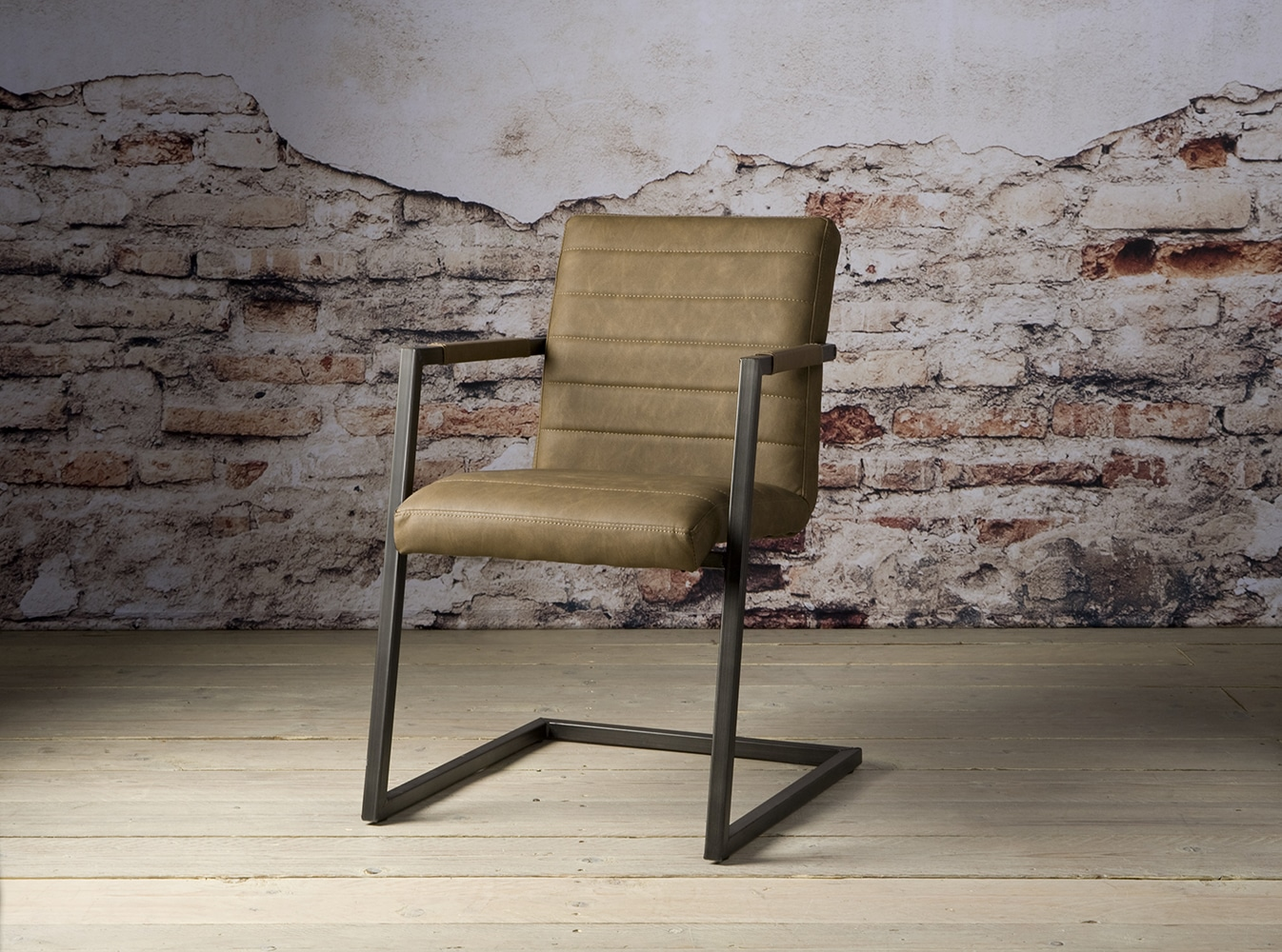 Ni 0082 Gijon Armchair Vintage Brown V