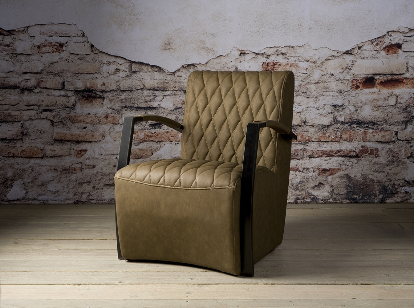 Ni 0103 Len Coffeechair Vintage Brown V