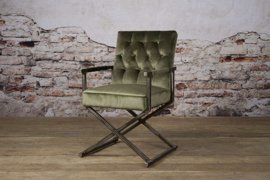 Tx 0021 Oldham Armchair Oud Groen 504 V