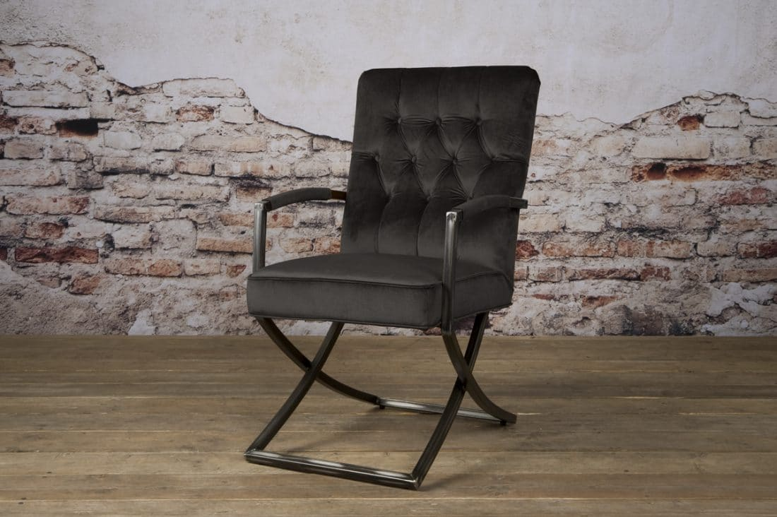 Tx 0033 Luton Armchair Donker Antraciet 801 V