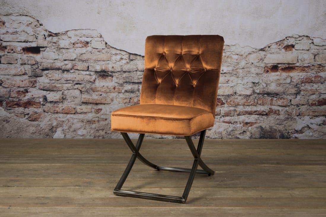Tx 0056 Bolton Sidechair Oranje 301 V